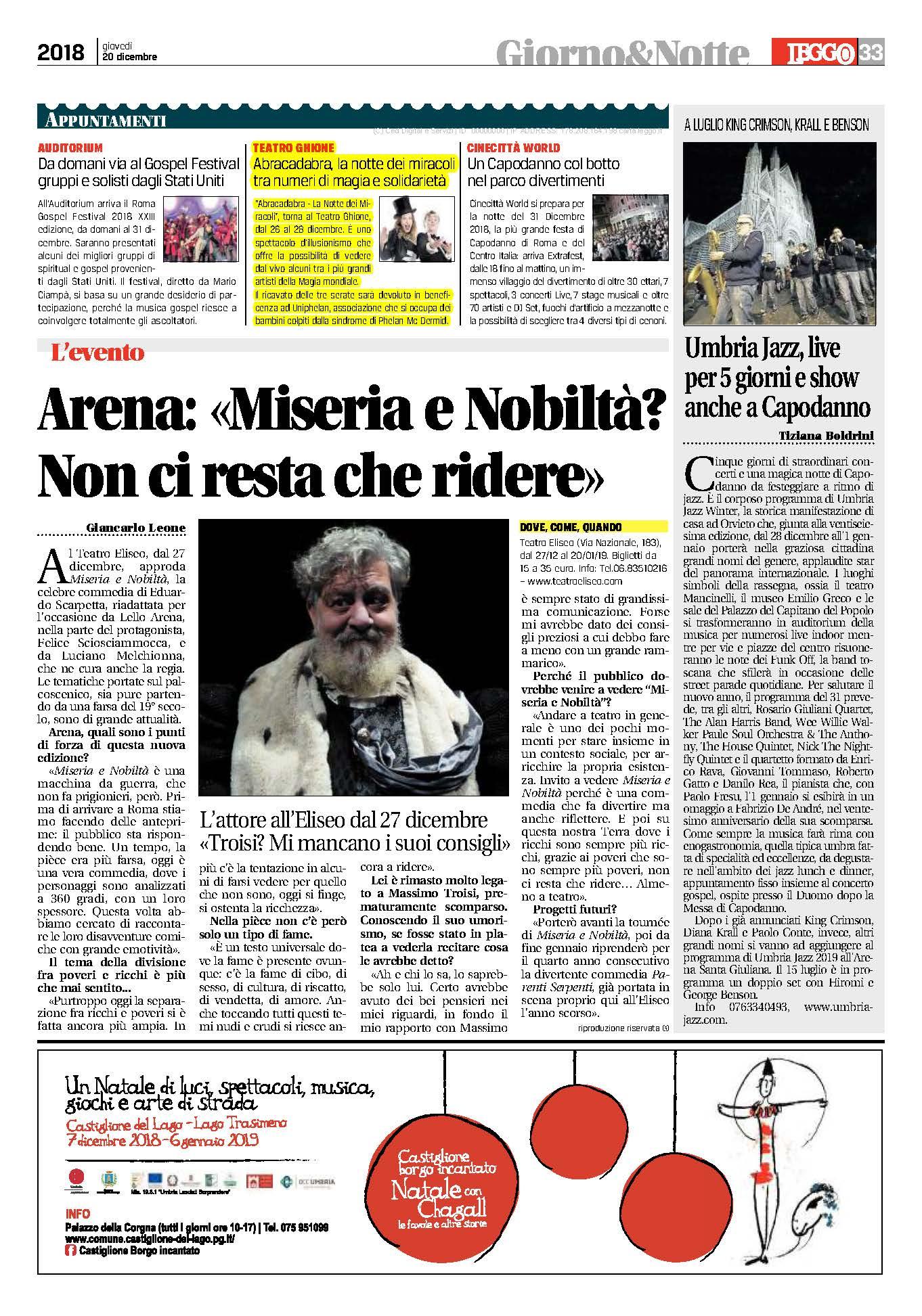 Leggo Roma 20.12.2018